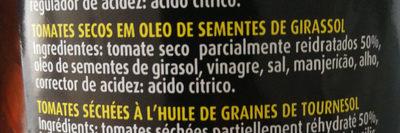 Tomates secos em óleo de sementes de girassol - Ingredientes