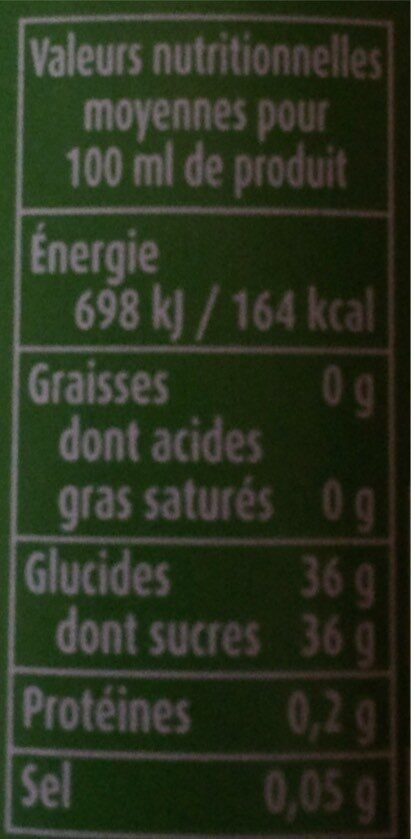 Vinaigre balsamique de modene - Nutrition facts - fr