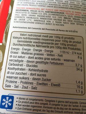 Tortellini Mit Schinken - Tortellini Con Prosciutto Crudo - Informations nutritionnelles