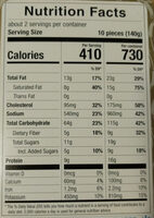 Ravioli - Nutrition facts - en