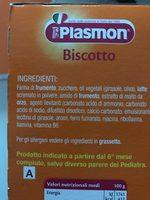 Plasmon Biscotto Cofanetto GR 720 - Ingredients - fr