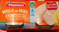 Plasmon Cod & Hake Fillets With Potatoes Meal Puree (2X80G) - Product - it