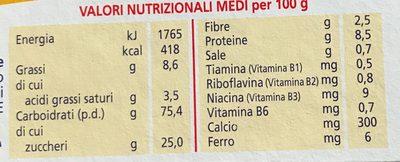 Montefiore Biscotto GR 360 - Nutrition facts - fr