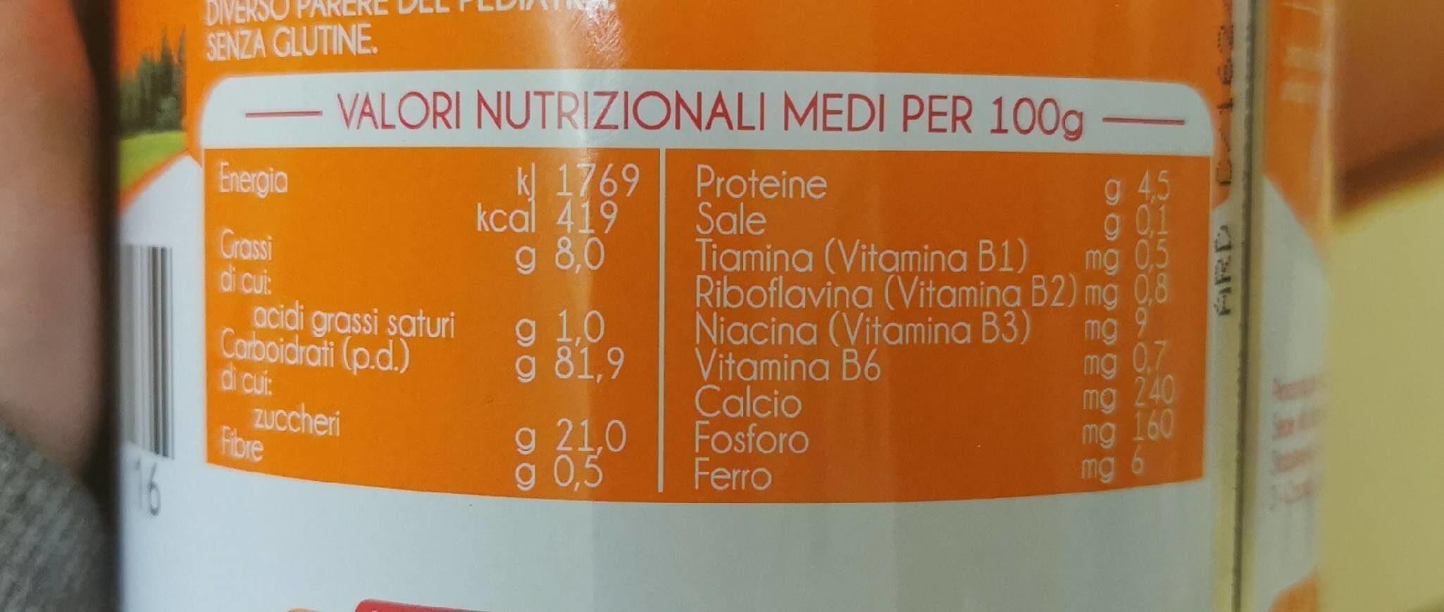 Plasmon biscottino - Nutrition facts