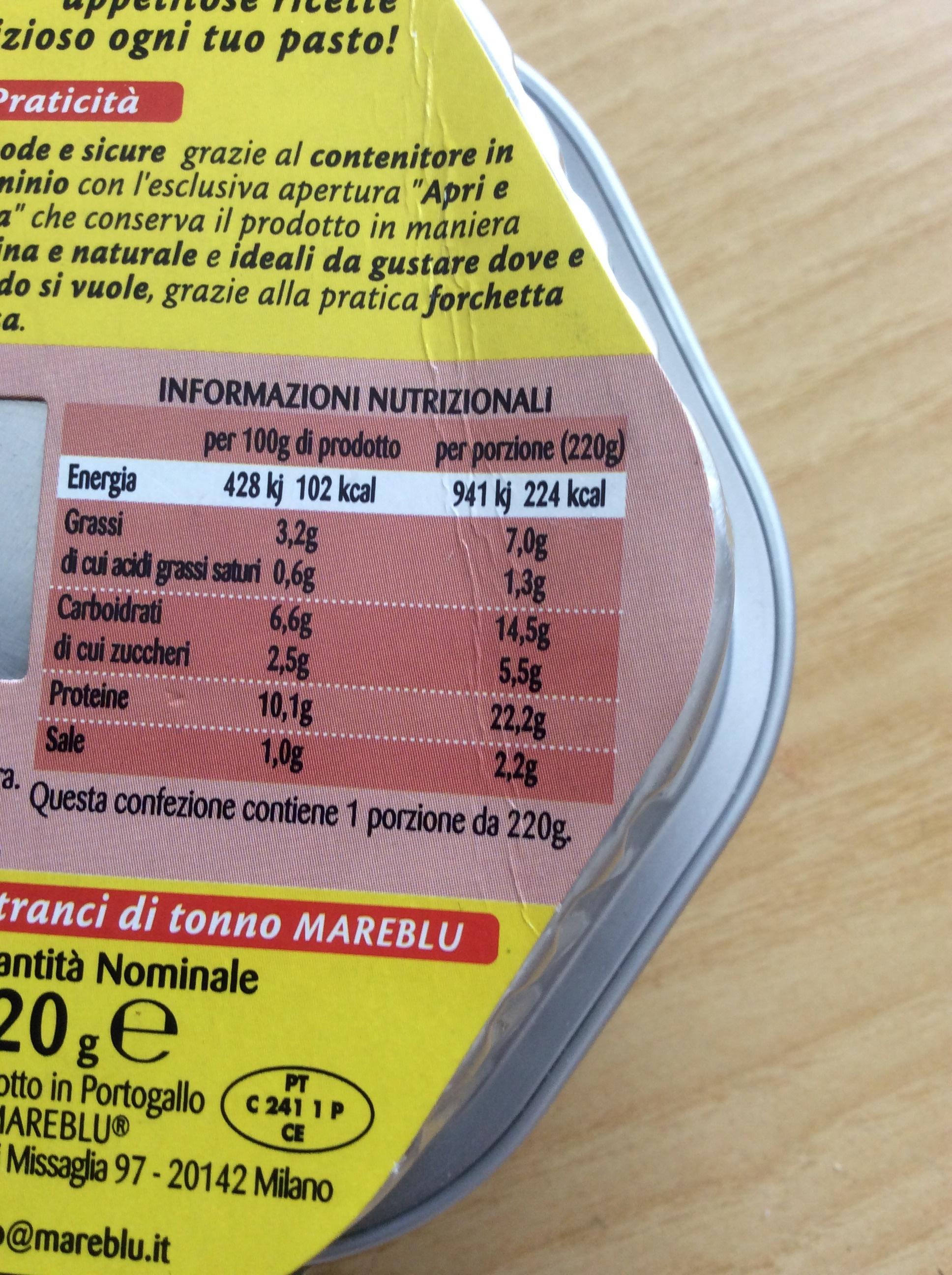 Mareblu Insalata Messicana - Nutrition facts - it