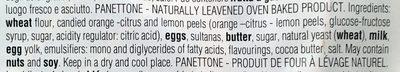 Pannettone Classico - Ingredients