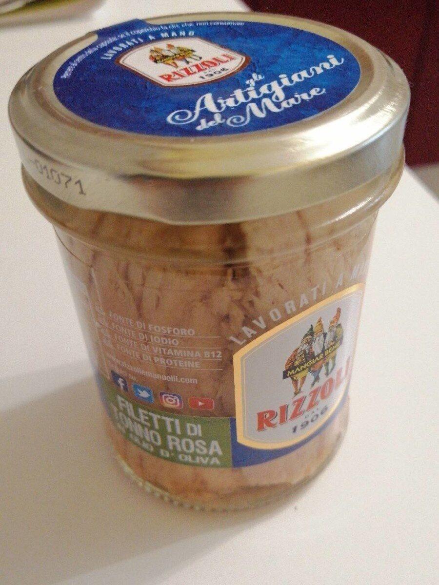 Filetto di tonno rosa in olio d'oliva - Prodotto - it