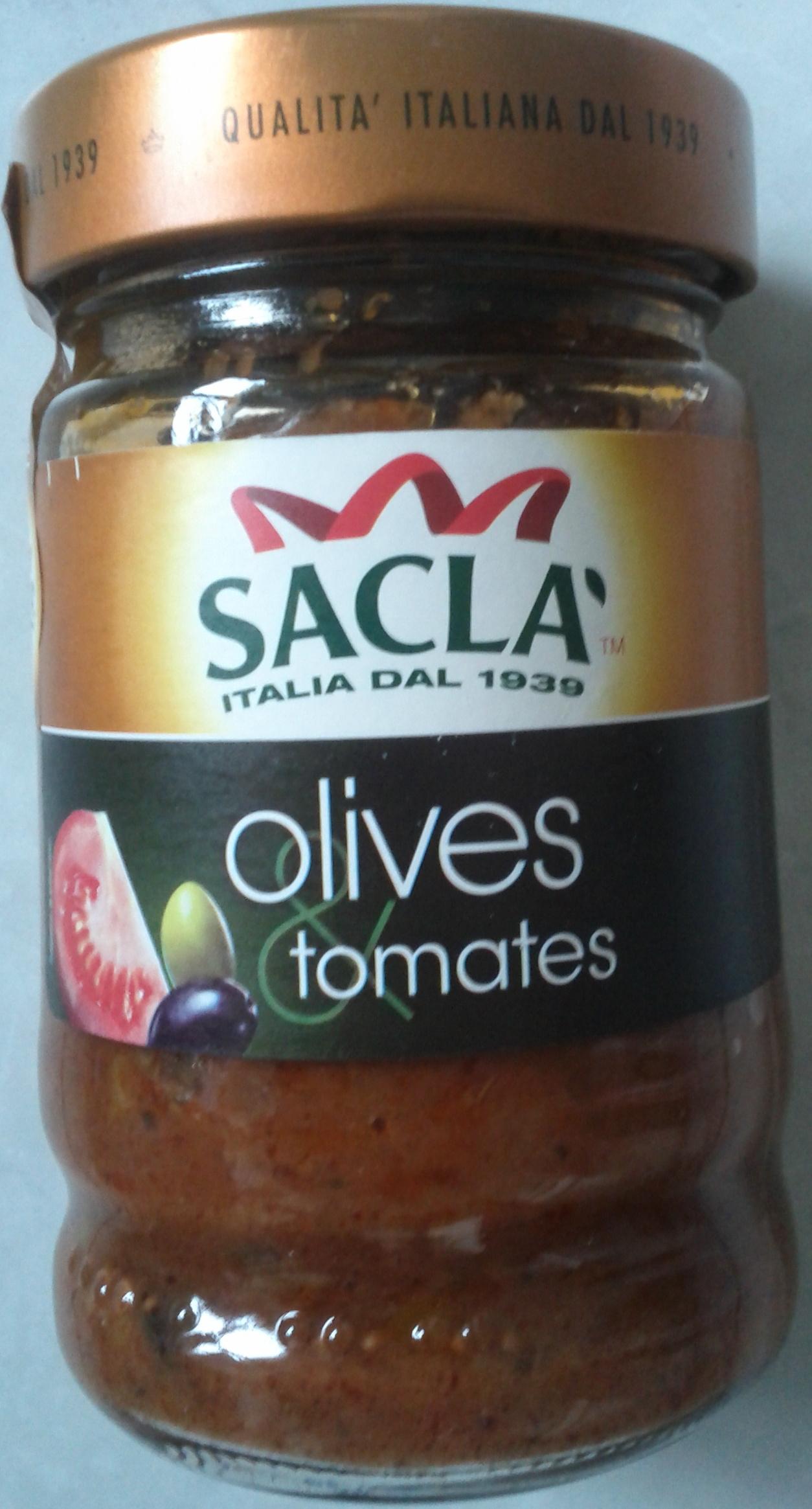 Sauce aux olives et tomates Sacla - Product