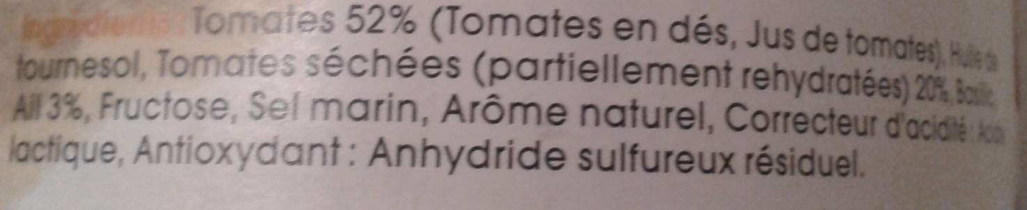 Caviar de tomates à l'ail - Ingrediënten - fr