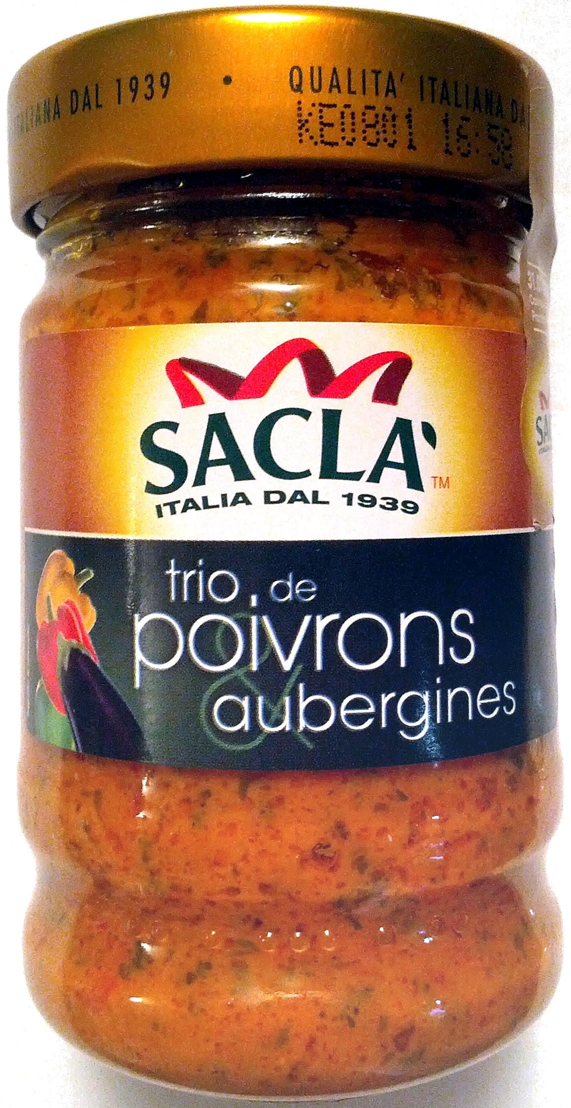 Trio de poivrons aubergines (Sauce) - Product
