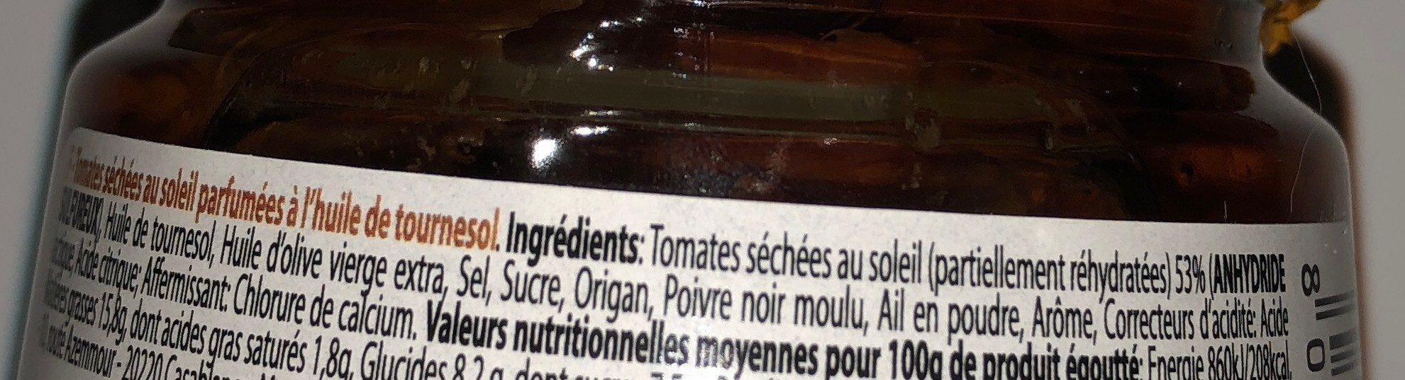 Pomodori secchi - Ingrediënten - fr