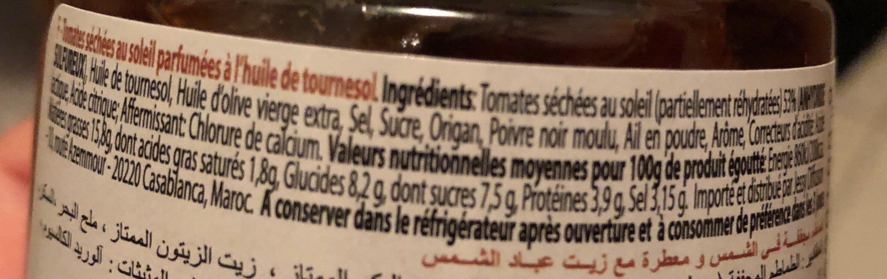 Pomodori secchi - Voedingswaarden - fr