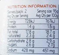 Sacla Italia Olive & Tomato Stir through - Nutrition facts