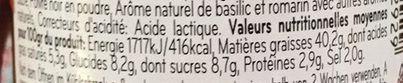 Tapenade de tomates - Nutrition facts - fr
