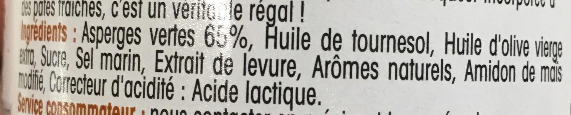 Asperges Vertes en Sauce et Morceaux - Ingredients - fr