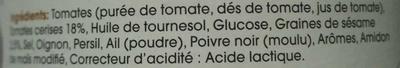 Sauce Tomates Cerises Sésame - Ingrédients