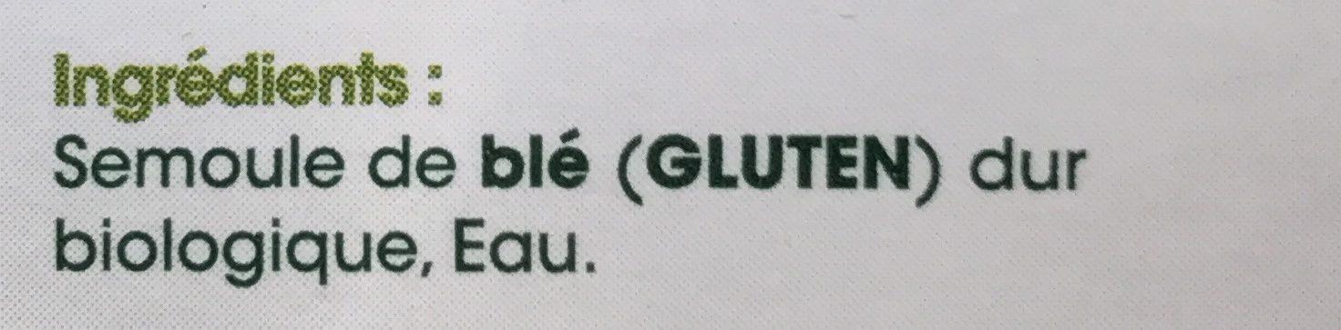Bucatini bio - Ingrediënten