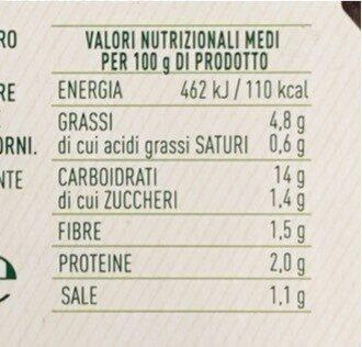 Riso nero con verdure - Valori nutrizionali - it