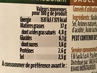 Sauce pesto alla genovese - Nutrition facts - fr