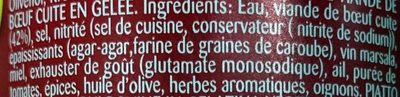 Simmmenthal - Ingredients