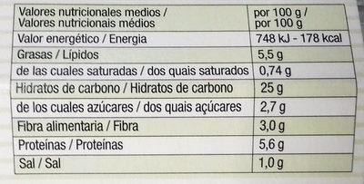 Burger de trigo sarraceno y aceitunas - Información nutricional - es