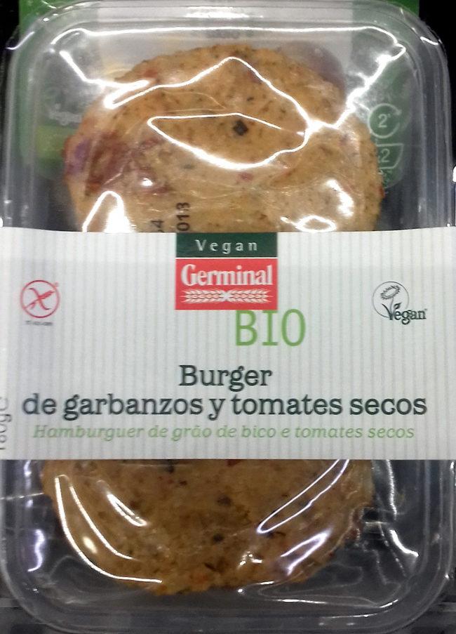 Burger de garbanzos y tomates secos - Product