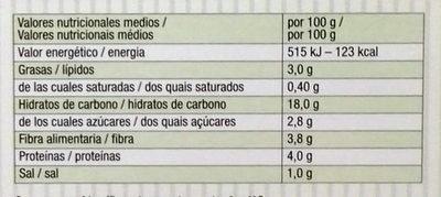 Mix de quinoa y setas shiitake - Informació nutricional