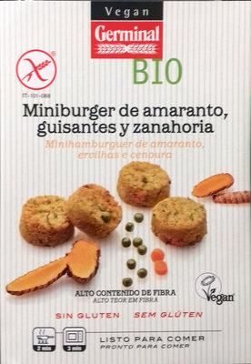 Miniburguer de amaranto, guisantes y zanahoria - Produit - es