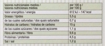 Miniburguer de amaranto, guisantes y zanahoria - Informations nutritionnelles - es