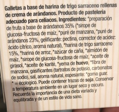 Galleta arandanos trigo sarraceno - Ingrédients - es