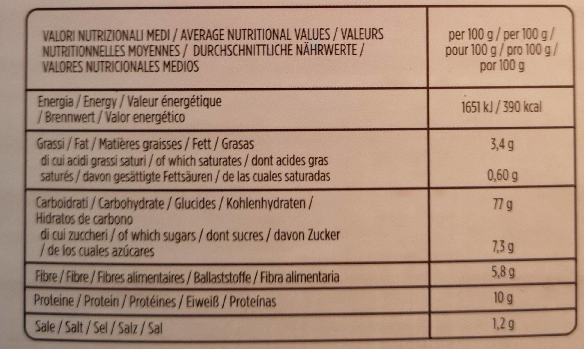 Flakes amaranto germinal bio - Valori nutrizionali - fr