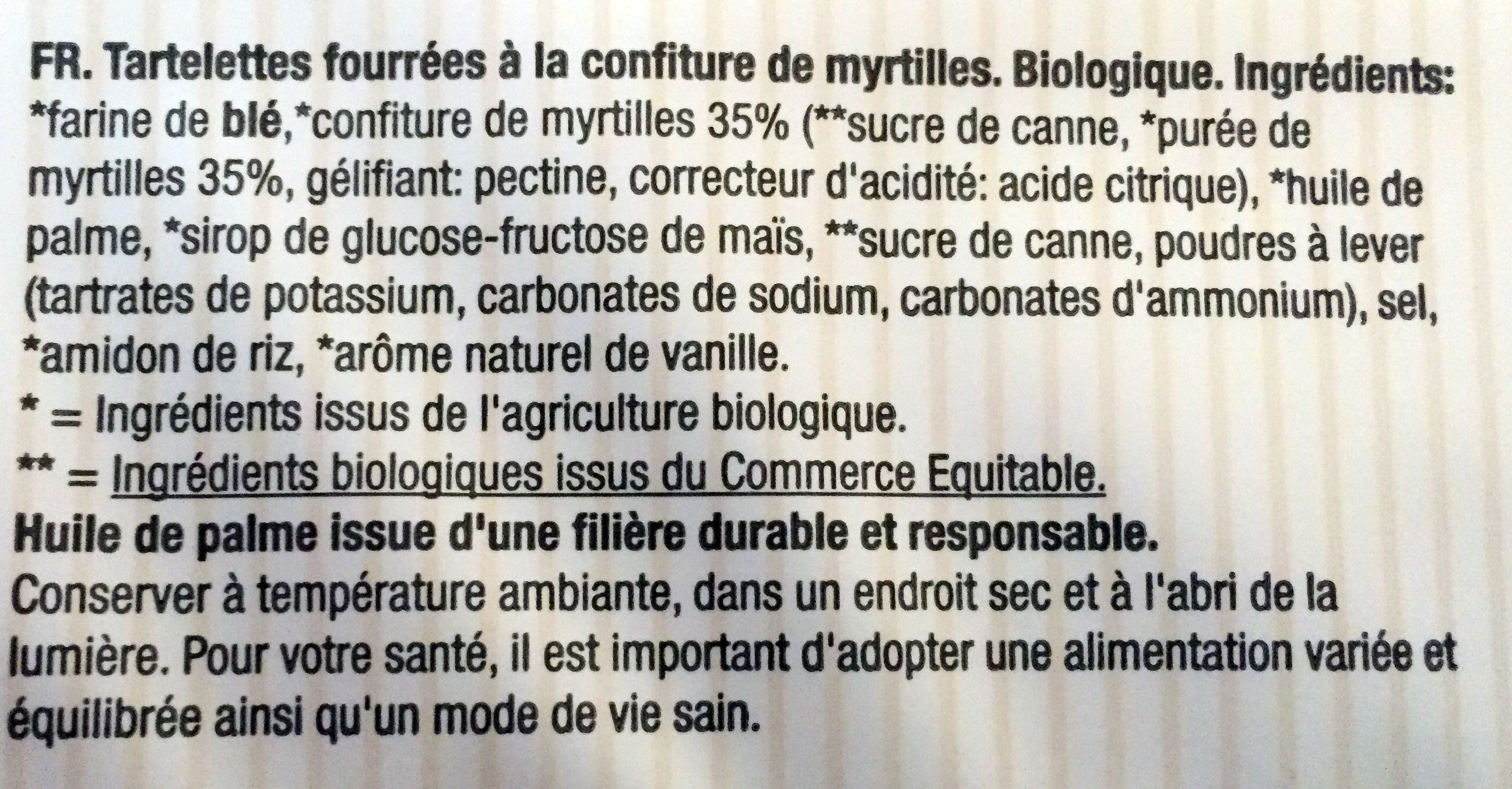 Tartelettes Myrtilles met Bosbes - Ingrédients - fr