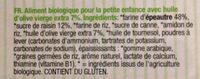 Biscuits pour bébés - Inhaltsstoffe - fr