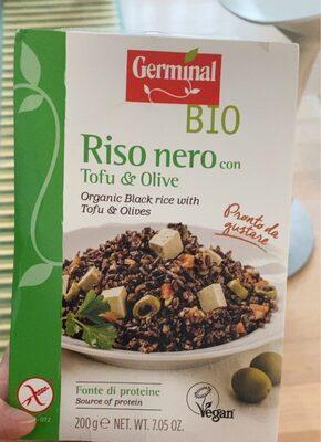 Riso nero con tofu e olive - Prodotto - it