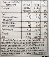 Ciambelle Biscuits - Valori nutrizionali - de