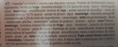 Colomba maxiciok - Ingredientes - pt