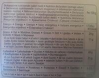 Colomba maxiciok - Informação nutricional - pt