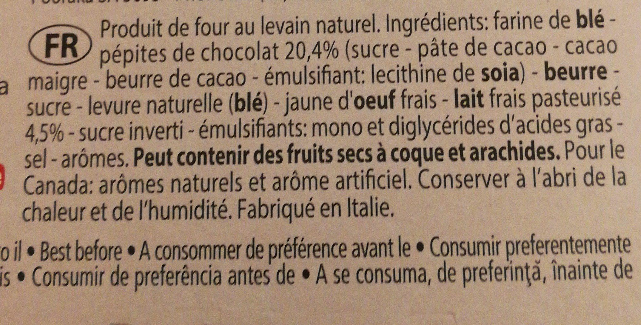 Panettone & Chocolate - Ingrédients