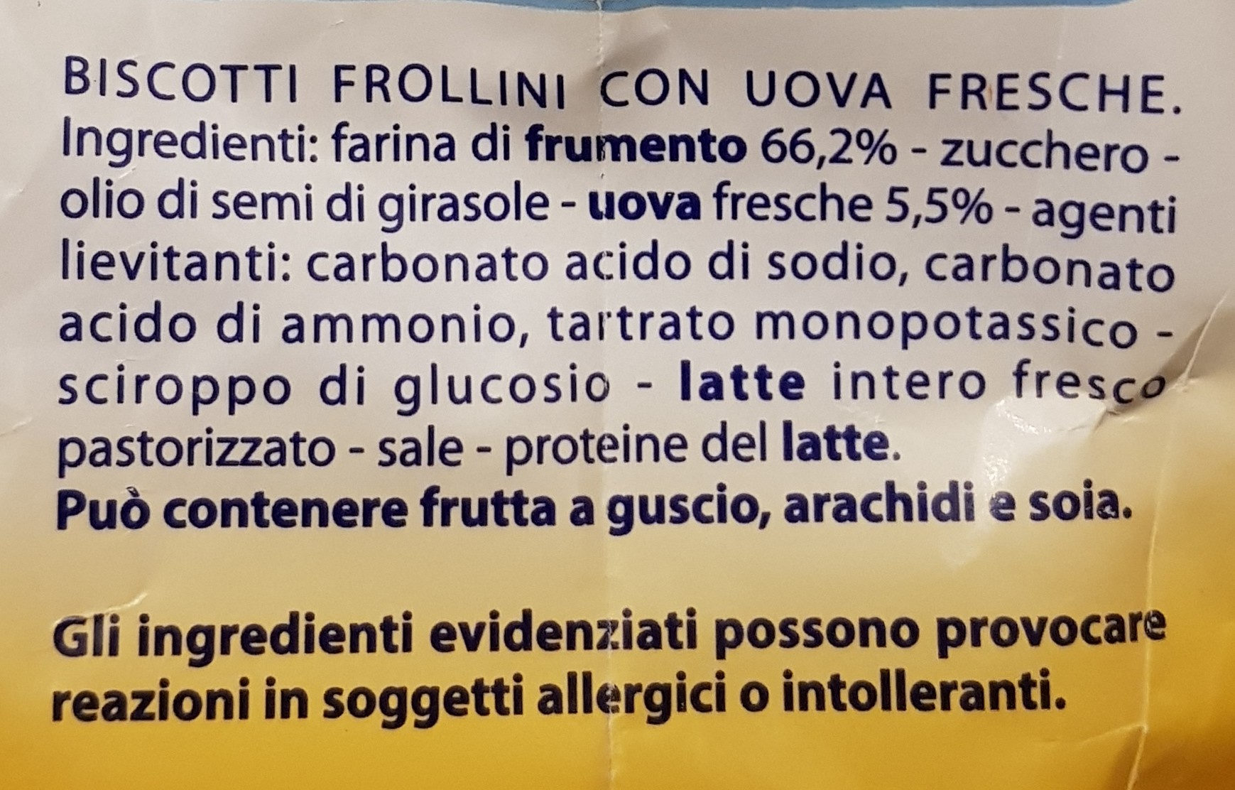 pastefrolle - Ingrédients