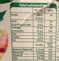 soia 100% vegetale frutta e cereali - Nutrition facts - it