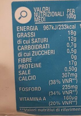 Mozzarella - Nutrition facts - it