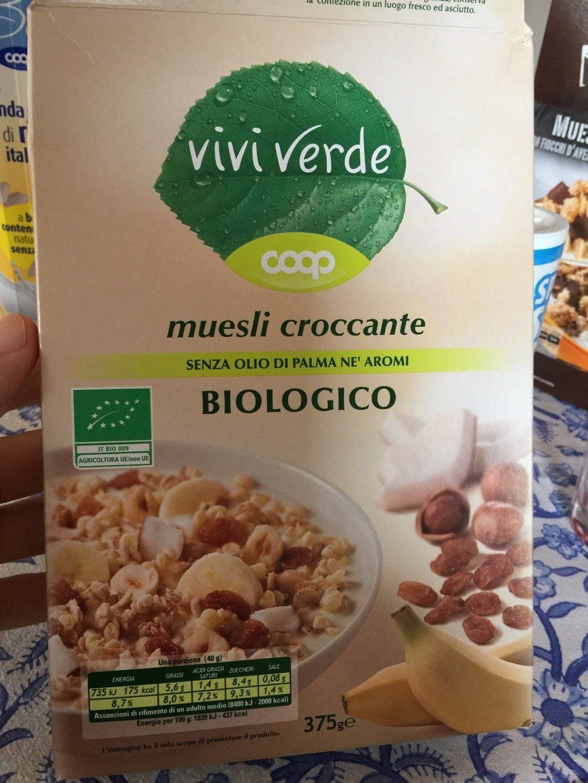 Muesli croccante biologico - Produit - fr