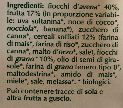 Muesli croccante biologico - Ingrédients - fr