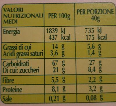 Muesli croccante biologico - Nutrition facts - it