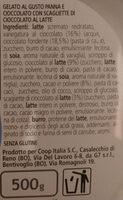 affogato al cioccolato - Inhaltsstoffe - it