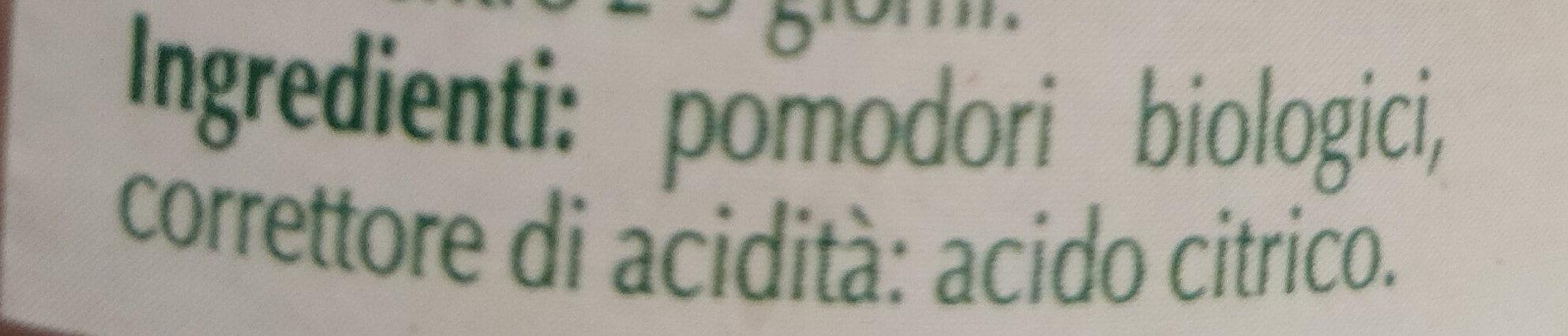 Passata Di Pomodori Bio Italia 700g (sauce Tomate) - Ingredienti - it