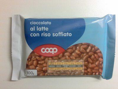 Cioccolato al latte con riso soffiato - Produit - fr