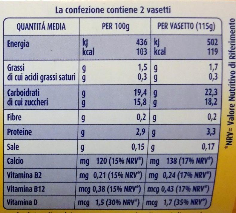 Crème Dessert di soia al gusto vaniglia - Voedingswaarden