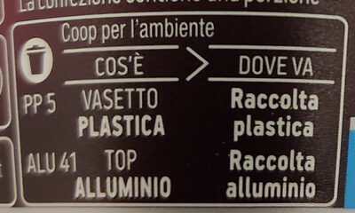 Yogurt Greco solo latte fresco greco al caffè - Recycling instructions and/or packaging information - it