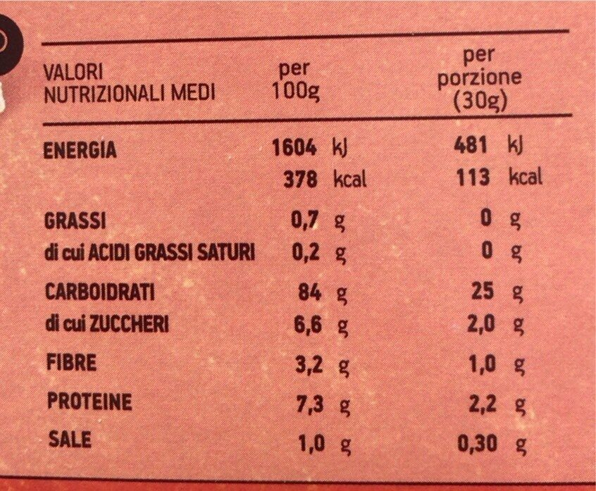 Corn Flakes - Nutrition facts - it